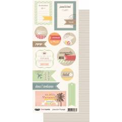 Labels sheet: Capucine Voyage