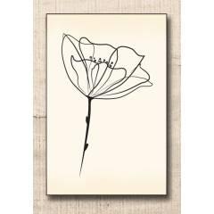 Wood stamp: Fleur sauvage
