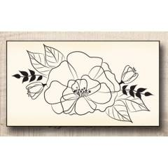 Wood stamp: Bouquet