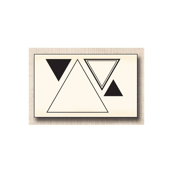 Wood stamp: Triangles