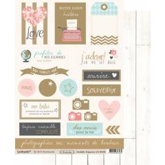 Labels sheet: Orchidée n°2