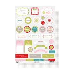 Labels sheet: Zinnia
