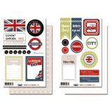 Lot de 2 Planches d'étiquettes London