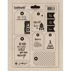 Planche d'étiquettes A5 Crystal Mon Trésor Noir