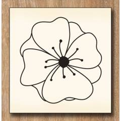 Tampon Bois Fleur