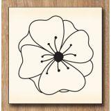 Wood stamp: Fleur