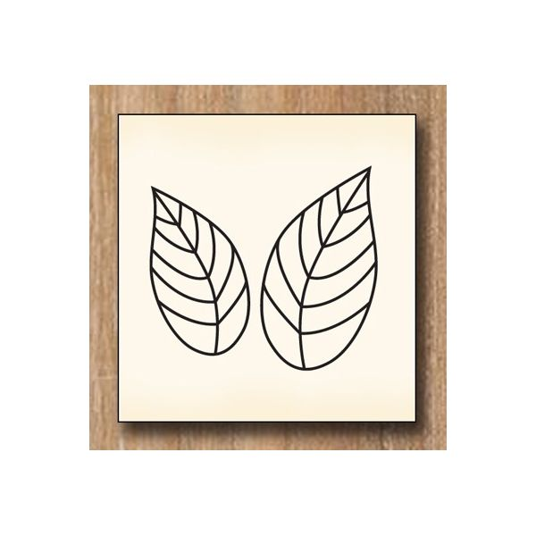 Wood stamp: Feuilles