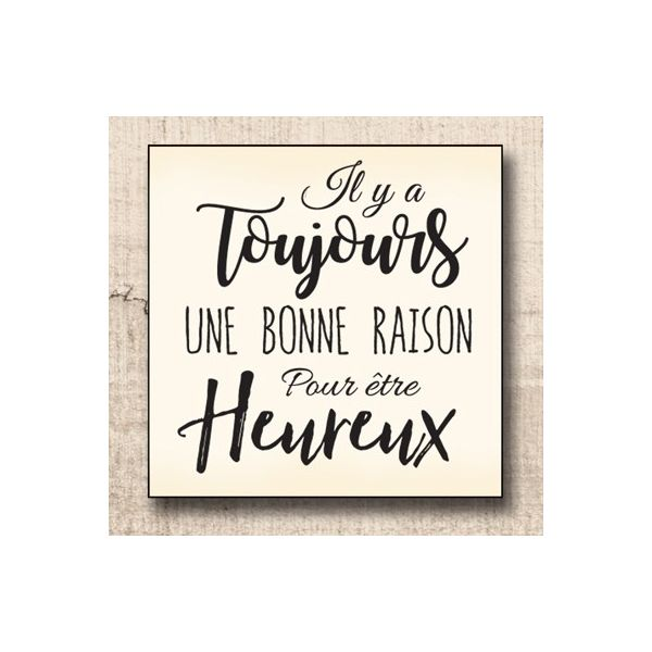 Wood stamp: Heureux