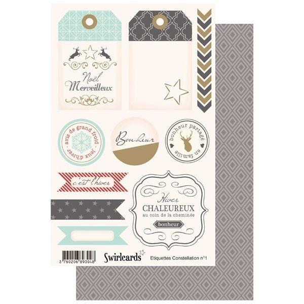 Constellation Planche n°1 d'étiquettes A5