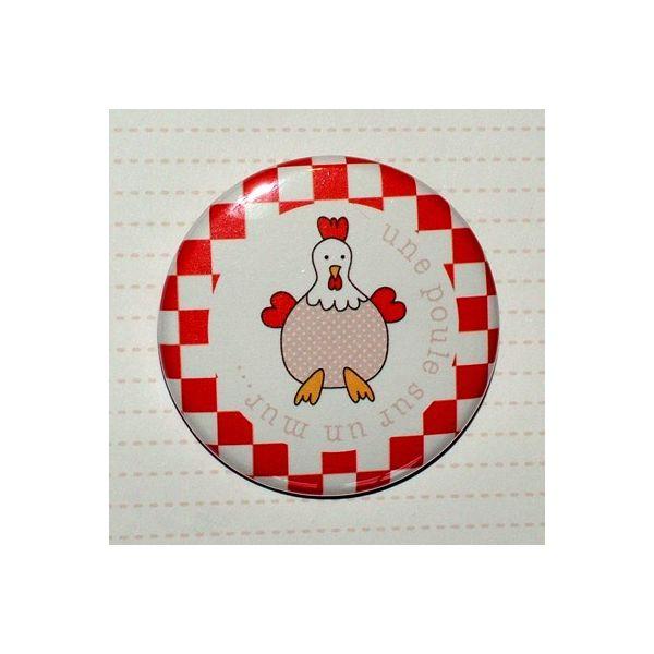 Badge 45 mm Champêtre Poule