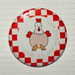 Badge 45 mm Champêtre Poule