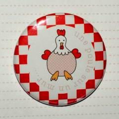 badge 45 Champêtre Poule