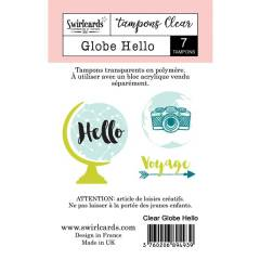 Clear stamp Globe Hello