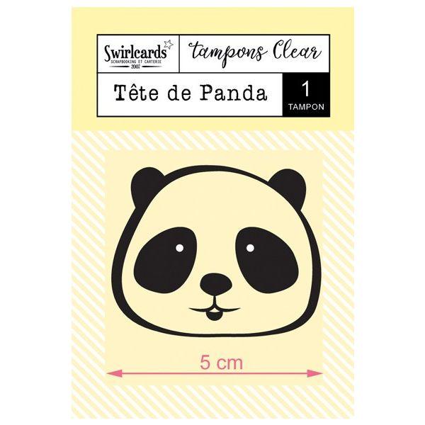 Tampon Clear Tête de Panda