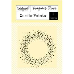 Tampon Clear Cercle points