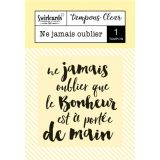 Clear stamp Ne jamais oublier