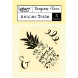 Clear stamp Ananas Texte
