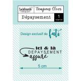 Clear stamp Dépaysement