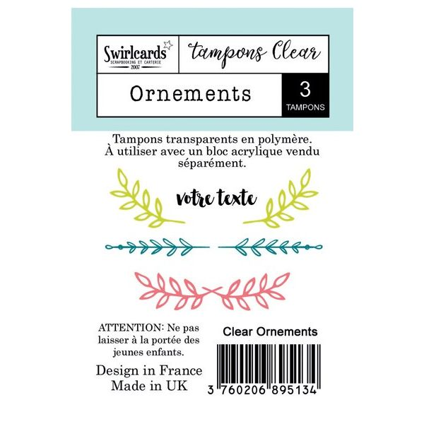 Clear stamp Ornements