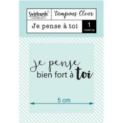 Clear stamp Je pense à toi