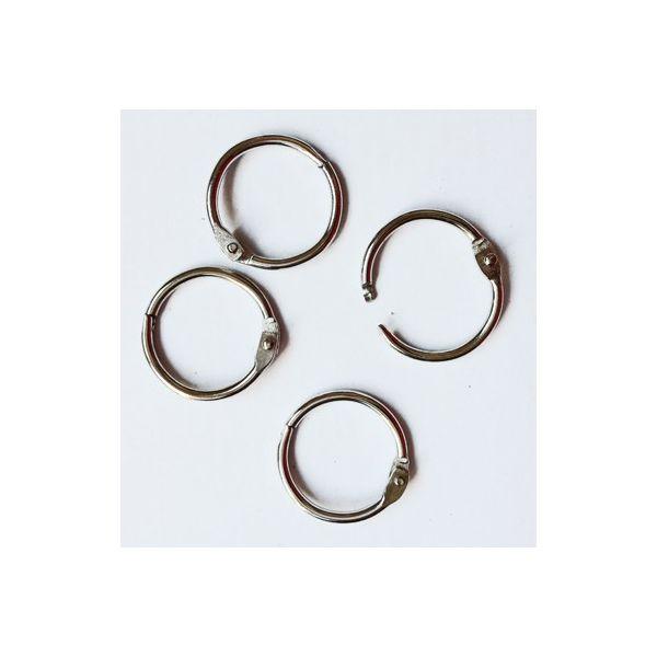 Lot de 4 anneaux de reliure