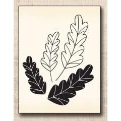 Wood stamp: Feuilles de Chêne