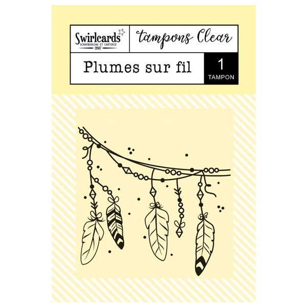 Clear stamp Plumes sur fil