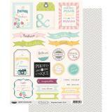 Planche d'étiquettes A4 Confettis Famille