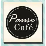 Wood stamp: Pause Café