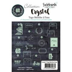 Crystal Menthe à l'eau Lot de 17 tags