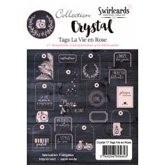 Crystal Vie en Rose Lot de 17 tags