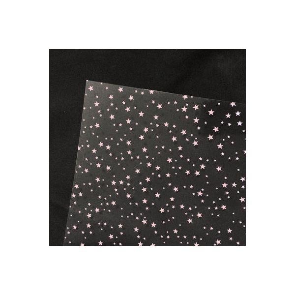 Crystal Sheets: Rose Ciel étoilé