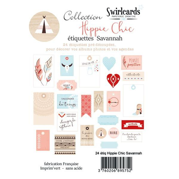 24 diecut Hippie Chic Savannah