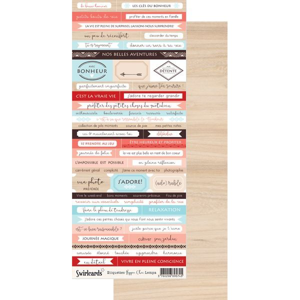 Labels sheet: Dymo Hippie Chic Lempa