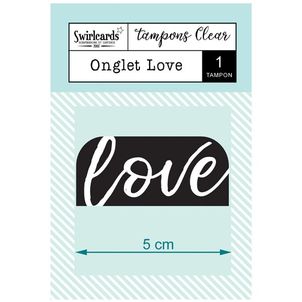 "Tampon Clear ""Onglet Love"""