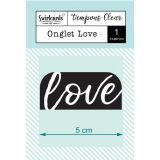 Clear Stamp Onglet Love
