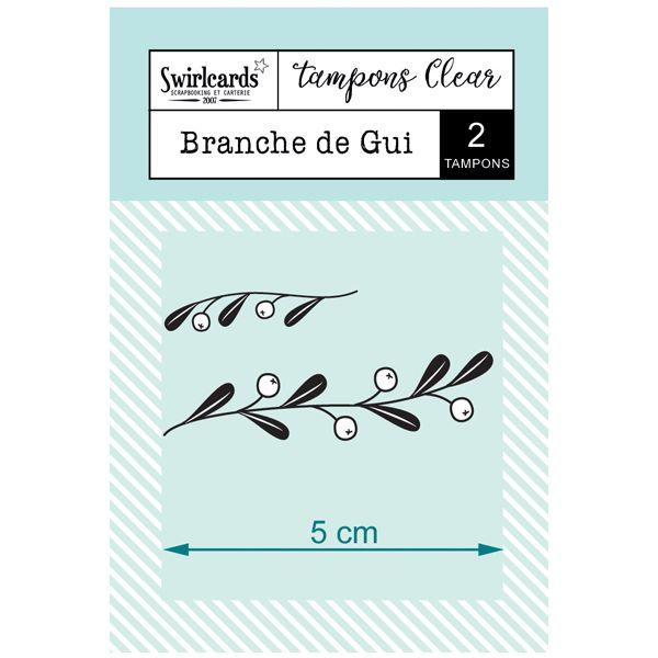 """Clear Stamps """"Branche de Gui"""""""
