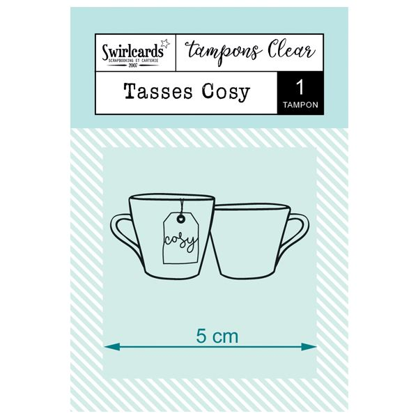 "Tampon Clear ""Tasses Cosy"""
