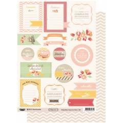 Planche d'étiquettes A4 Capucine Rose