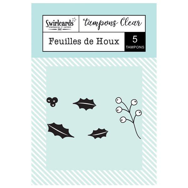 """Tampons Clear """"Feuilles de Houx"""""""