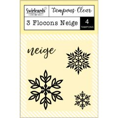 "Tampons Clear ""3 Flocons Neige"""