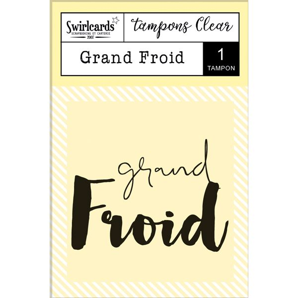"Clear Stamp ""Grand Froid"""