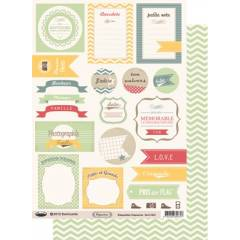 Labels sheet: Capucine Verte