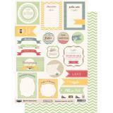 Planche d'étiquettes A4 Capucine Verte