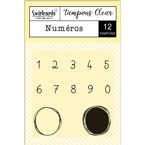 """Tampons Clear """"Numéros"""""""