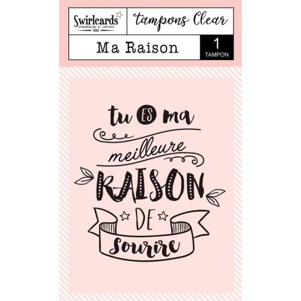 "Clear Stamp ""Ma Raison"""