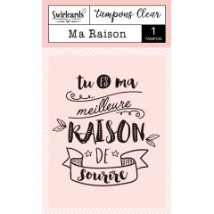 "Clear Stamp ""Ma Raison"""