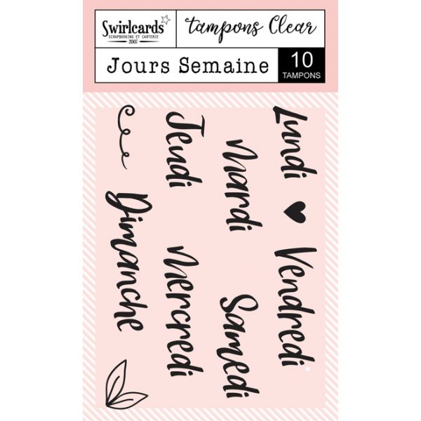 "Tampons Clear ""Jours Semaine"""