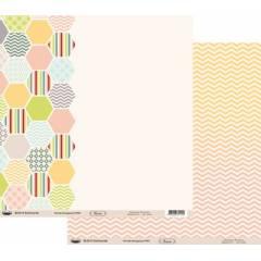 Papier Floride Hexagones