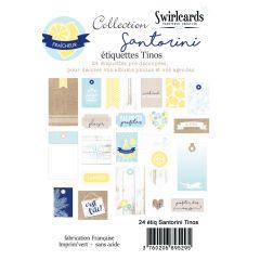 Santorini Tinos Lot de 24 étiquettes